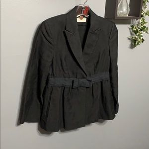 Stella McCartney Black Bow Blazer sz 42 (8)